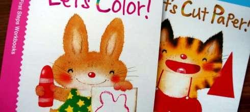 2歲以上適合 Kumon功文 小手美勞遊戲書:著色,貼紙,剪貼,摺紙 建立手部精細動作