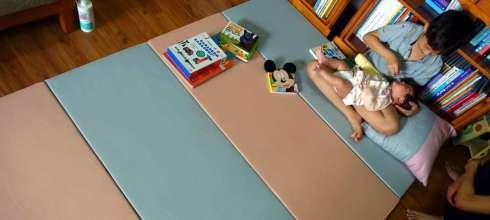 阿紅私物|好清好收的HANPLUS寶寶爬行地墊,40倍高密度泡棉才耐用