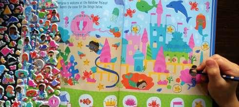 小孩很忙Mermaids and Narwhals泡泡貼紙遊戲書 Dragons Sticker Book龍傳說貼紙書