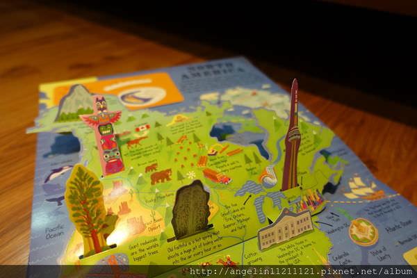 從小看到大的世界旅行立體書 MY POP-UP WORLD ATLAS Amazon讀者5顆星 - 愛小宜的甜蜜小窩