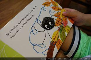 適合0-3歲的硬頁書●Walter's Wonderful Web●鼓勵孩子不放棄與多嘗試