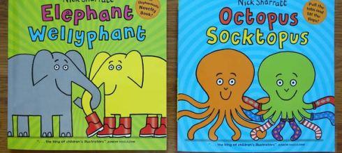 幽默的Nick Sharratt書單●Elephant Wellyphant●正經又搞笑的大象兄和章魚哥