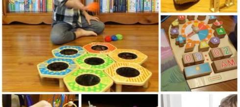 [揪團]●德國系感統木玩●彈珠軌道積木,投球計分遊戲組,我的行動書桌,好忙百寶箱