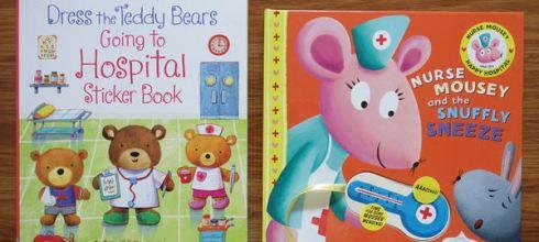 不怕看醫生書單●Usborne泰迪熊去醫院-穿衣服貼紙書●還有老鼠護士操作書