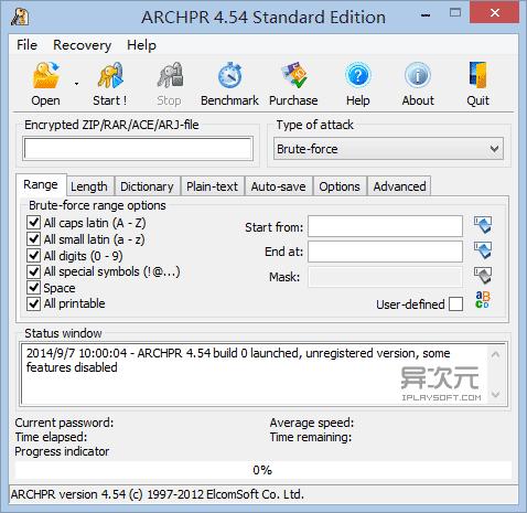 Advanced Archive Password Recovery - 加密壓縮包密碼破解軟件 - 異次元軟件下載