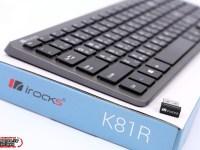 鋰電池可充電搭配超輕薄質感,iRocks K81R 2.4GHz 無線剪刀腳薄膜式鍵盤評測