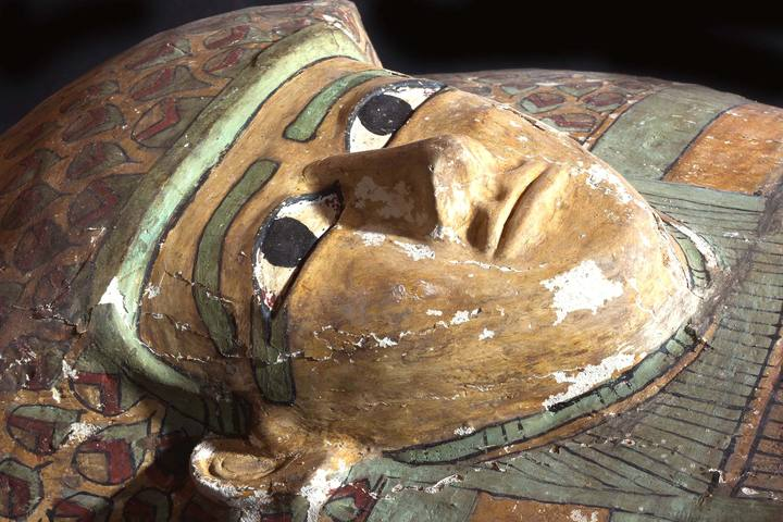 Detalle del sarcófago.