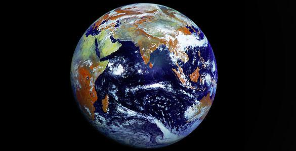La imagen ha sido realizada por el satélite ruso Elektro-L en una sola toma