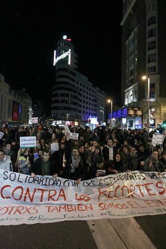MANIFESTACIÓN DE APOYO A LOS ESTUDIANTES DE VALENCIA EN MADRID