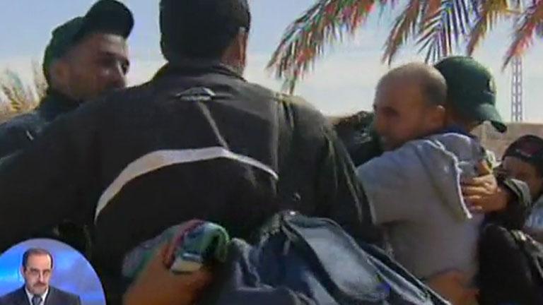 Ver vídeo  'Primeras imágenes de los rehenes liberados'