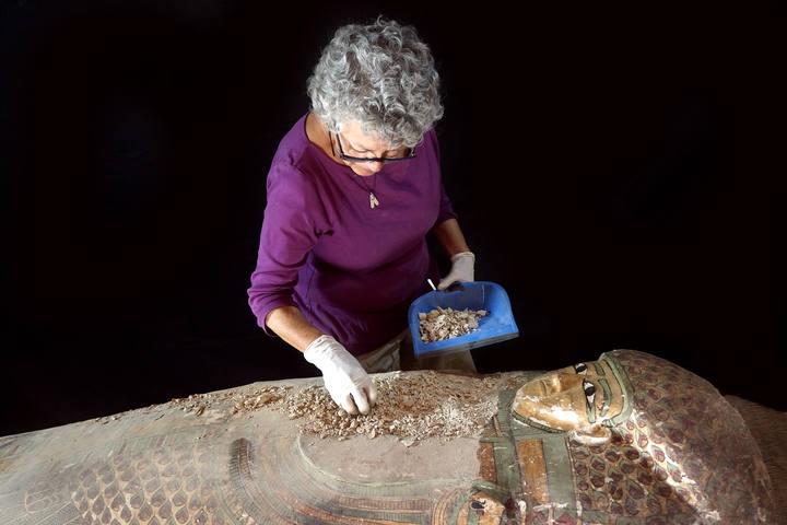 El sarcófago se encontraba intacto
