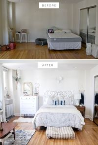 bedroom before and after, bedroom makeover, boho bedroom