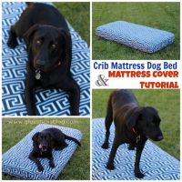 Crib Mattress Dog Bed: ! Make a cover for a toddler ...