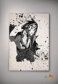 Naruto Shippuuden Uchiha Sasuke Watercolor Print Archival ...