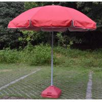steel chair for tent house casters hardwood floors 420d oxford frame windproof beach umbrella pink with water base