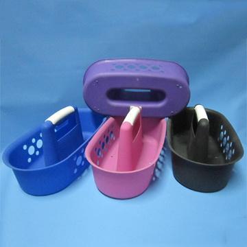 Durable Plastic Shower Caddy Bath Caddy w/ Handle