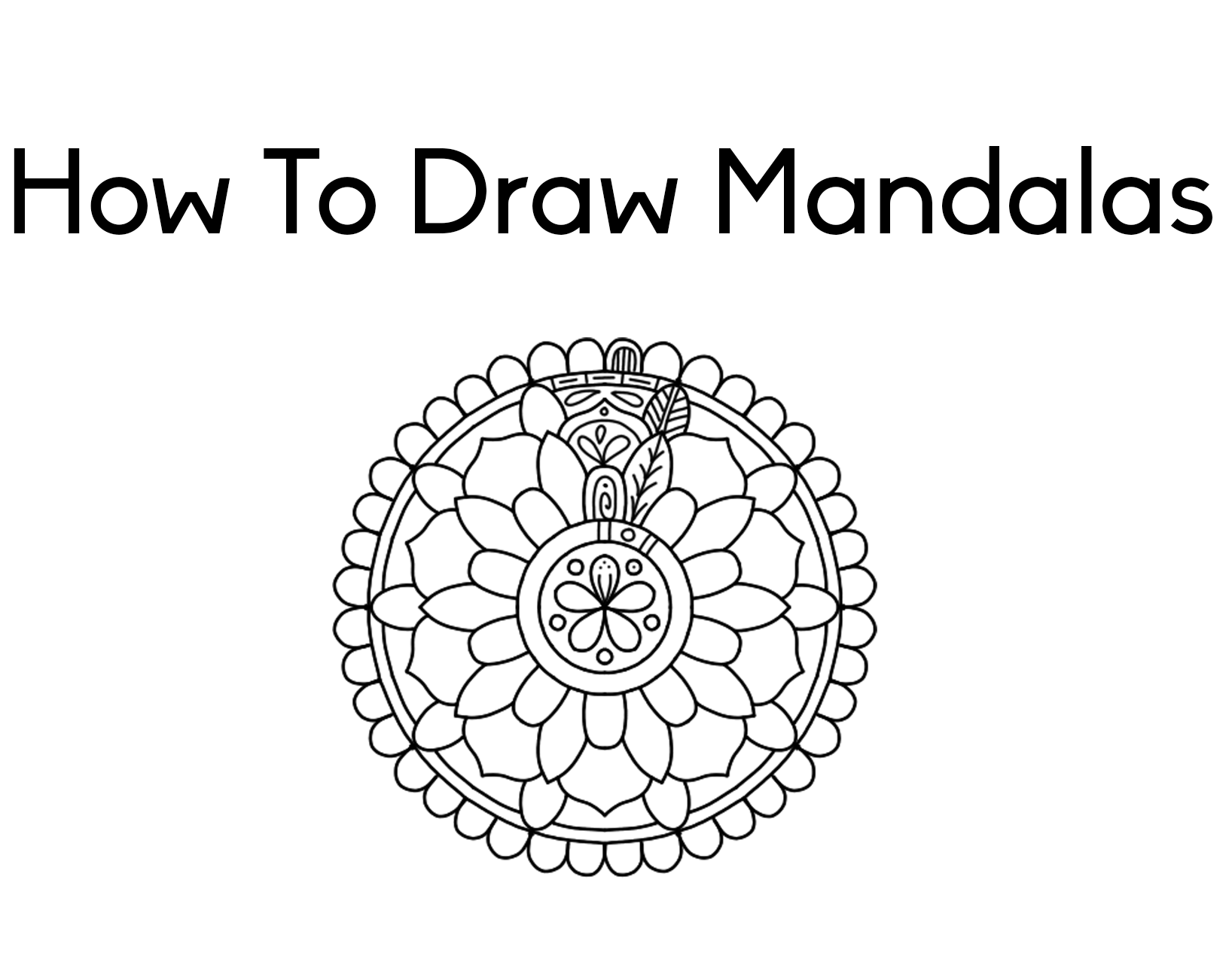How To Draw Mandalas By Screwy Lightbulb