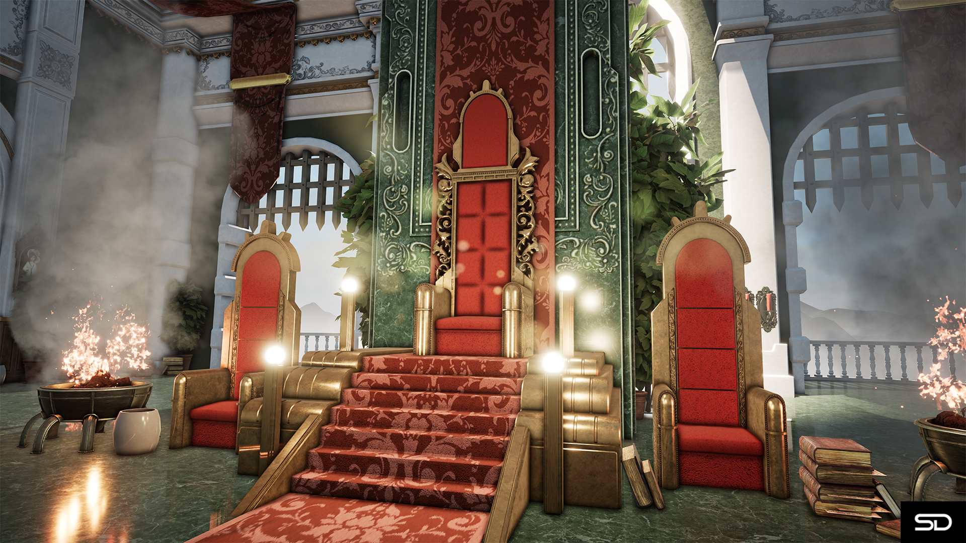 The King S Throne By Sdserenity For 3d Environment Art