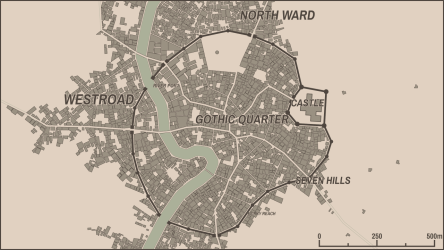 0 7 1: Editable district names Medieval Fantasy City Generator by watabou