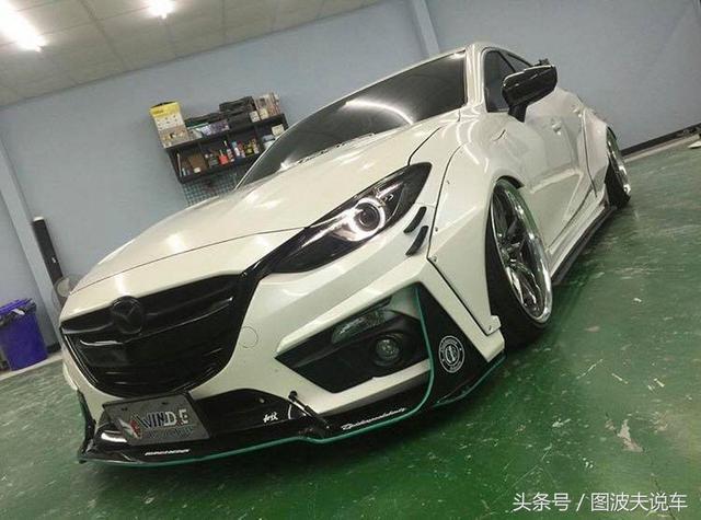 競技風格,Mazda3 切割系爆龜寬體套件! - ITW01