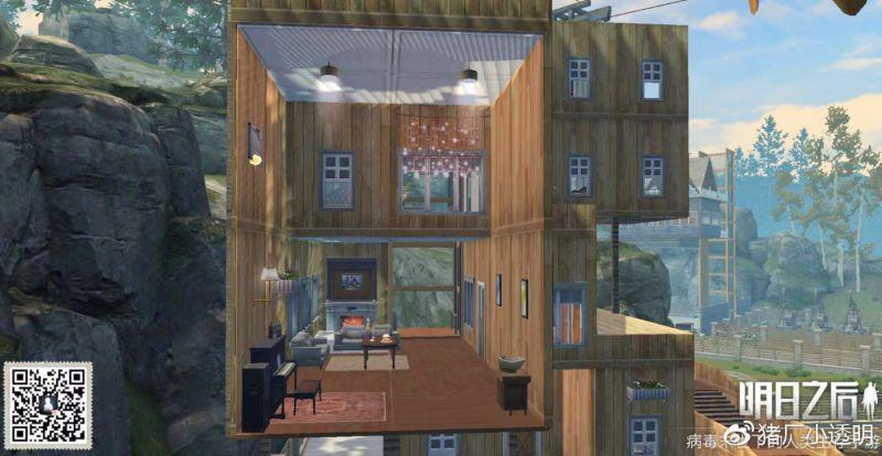 明日之後攻略Vol.42——現代感LOFT公寓房平面設計藍圖 - ITW01