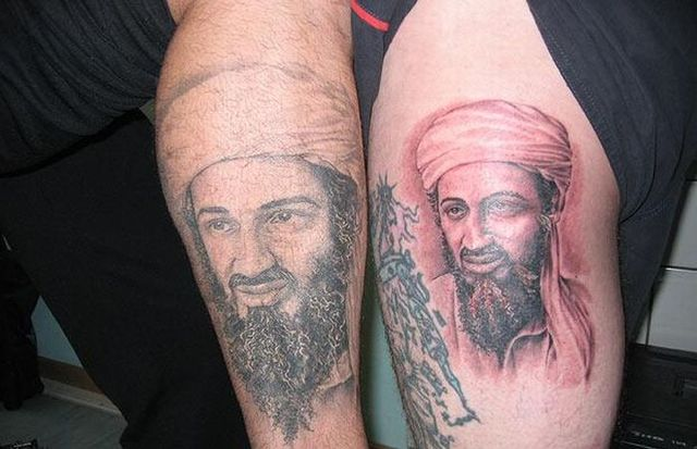 The book shows different tattoos, some are funny, some are just aweful etc.