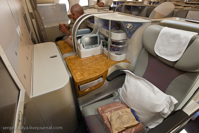 Inside a Luxurious Airbus A380 of the Emirates Airline 47