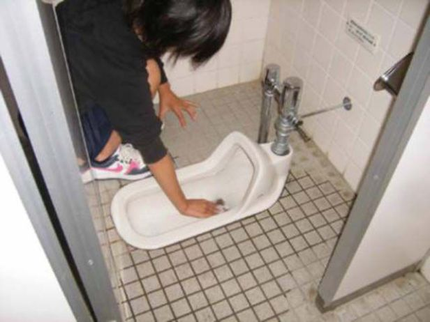 Image result for Japanese Kids washing commodes and urinals in schools