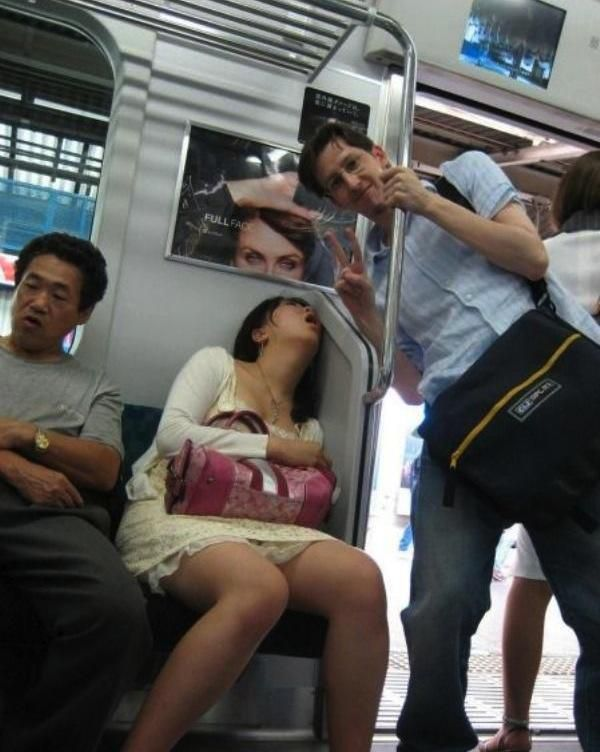 drunk people sleeping in