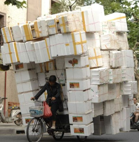 """Chinese Drivers Give New Meaning to the Term """"Abnormal Load"""""""