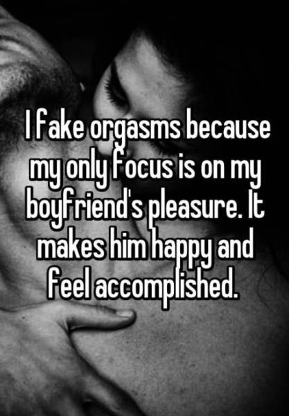 Women Reveal Why They Fake Orgasms