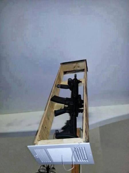 Clever Hiding Spots For Guns 22 Pics