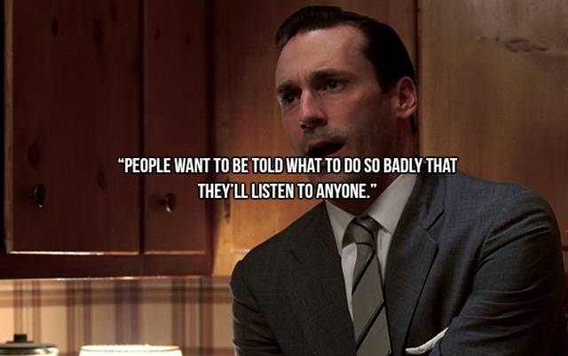 Image result for mad men quotes