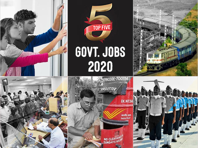 Top 5 Govt.  Jobs of the Day–20 July 2021