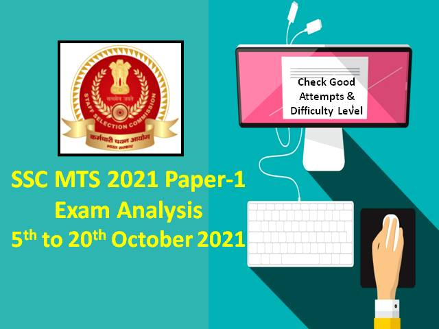 SSC MTS 2021 Exam Analysis