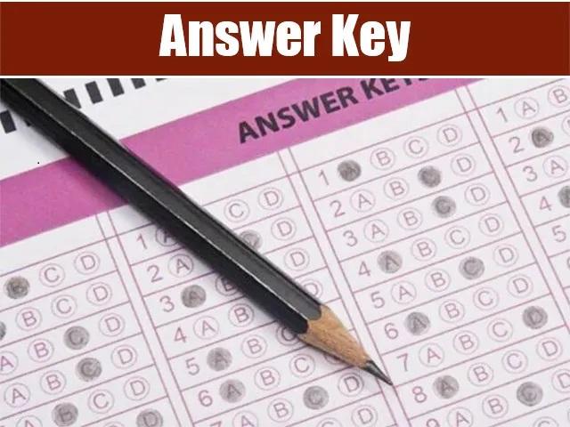 KSP PI Answer Key 2021