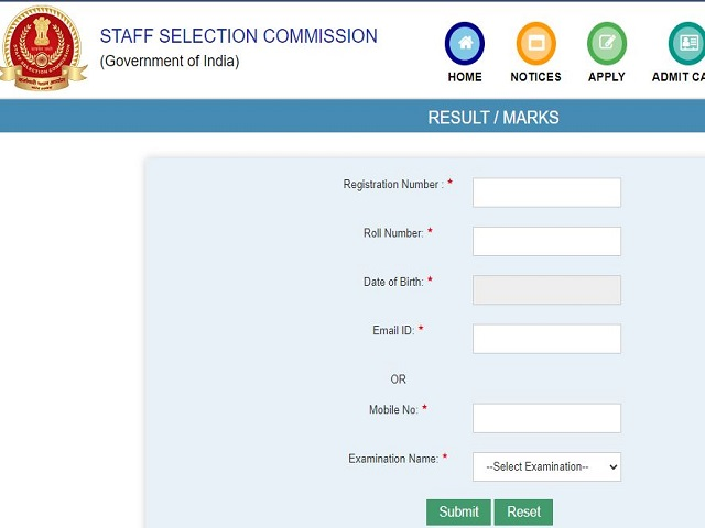 SSC SI ASI Marks 2018 Out @ssc.nic.in, Check CPO Marks Download Link