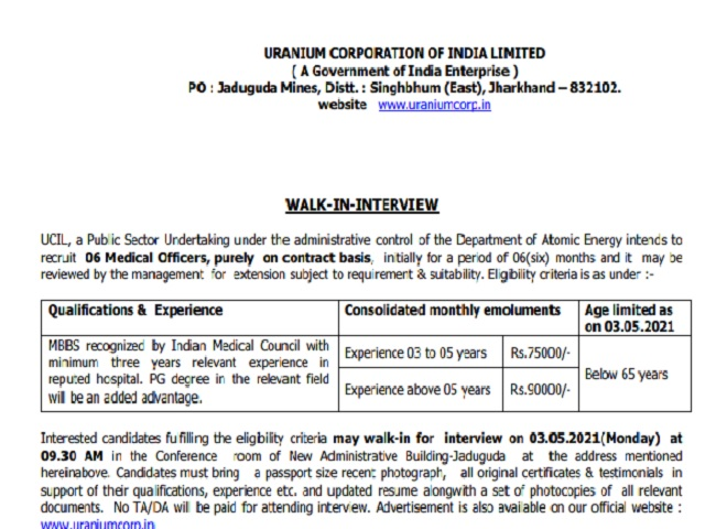 Walk-In on 3 May for 6 Posts, Check Application Process & Details Here