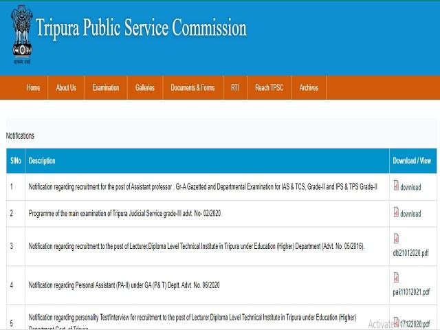 टीपीएससी भर्ती 2021: 63 कृषि अधिकारी पदों के लिए ऑनलाइन आवेदन करें @ tpsc.tripura.gov.in
