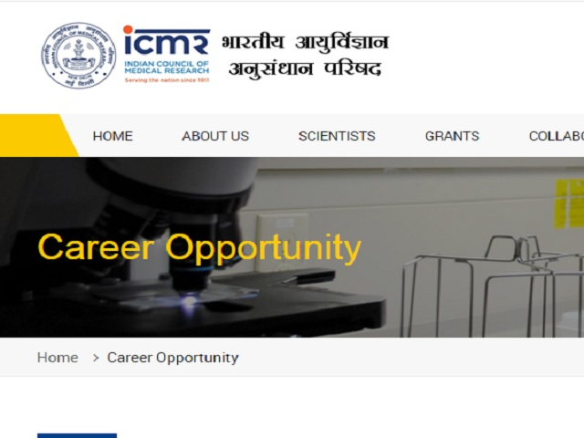ICMR Recruitment 2021 for Consultant, Project Scientist and other Posts @main.icmr.nic.in, Apply till March 25
