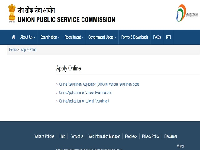 Apply Online for 13 Deputy Secretary, Group 'A Posts @upsc.gov.in