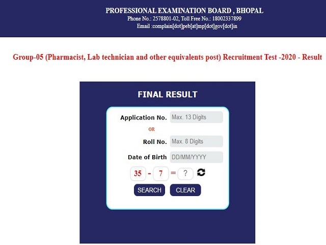 MPPEB Group 5 Result Out @peb.mp.gov.in: Download Link Here