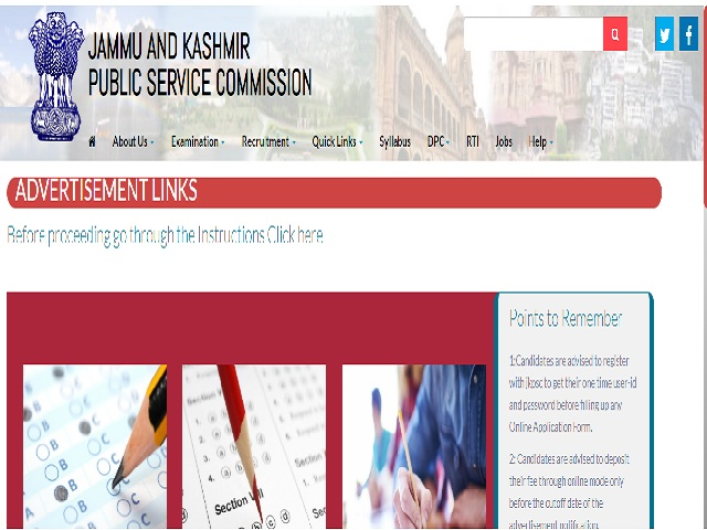 JKPSC Recruitment 2021 for 91 Assistant Registrar Cooperative Societies, Apply Online from 17 May @ jkpsc.nic.in
