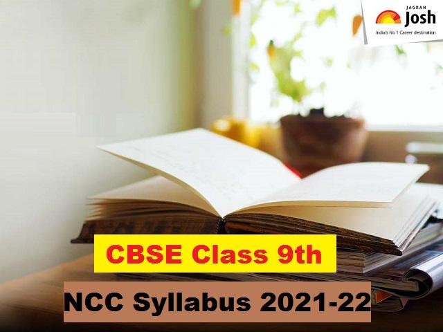 CBSE Class 9 NCC Syllabus 2021-2022 (PDF)