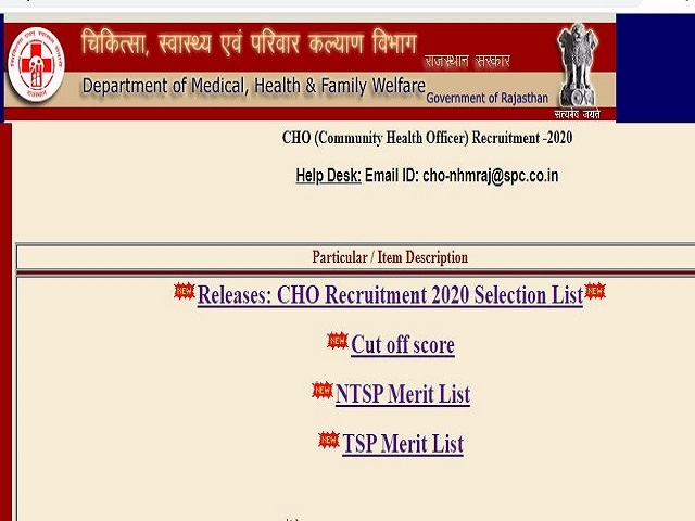 Check Cut-Off, NTSP Merit List and TSP Merit List