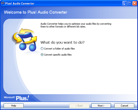 Audio Converter Open Screen