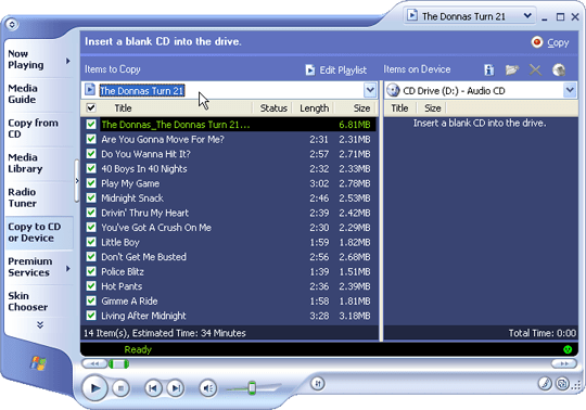 Windows Media Player Playlist