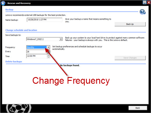 Change br_funcs.exe backup frequency to never
