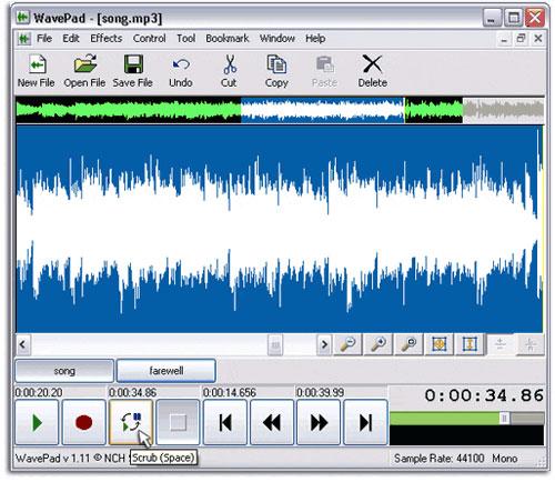 Edit audio with WavePad