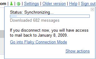 gmail offline sync